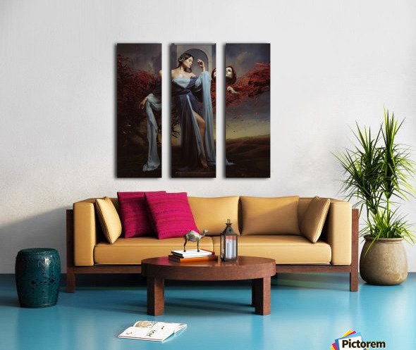 Luiza and Time Split Canvas print