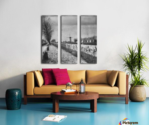 My beloved flat country: Damme Split Canvas print