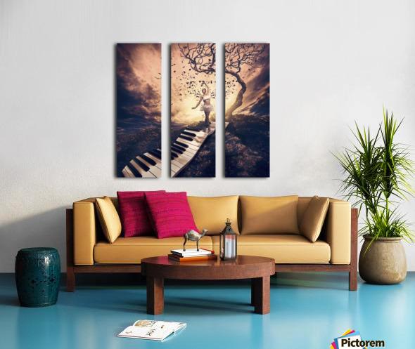Rhapsody Split Canvas print