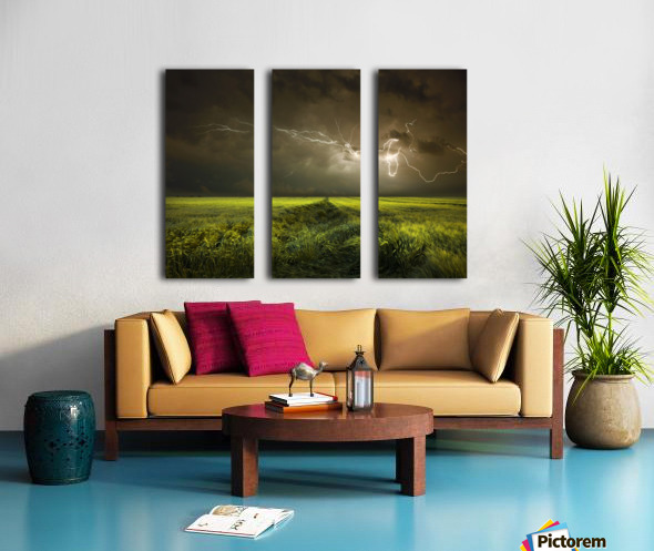 Electrically in Summer Split Canvas print