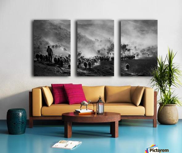 flocks Split Canvas print
