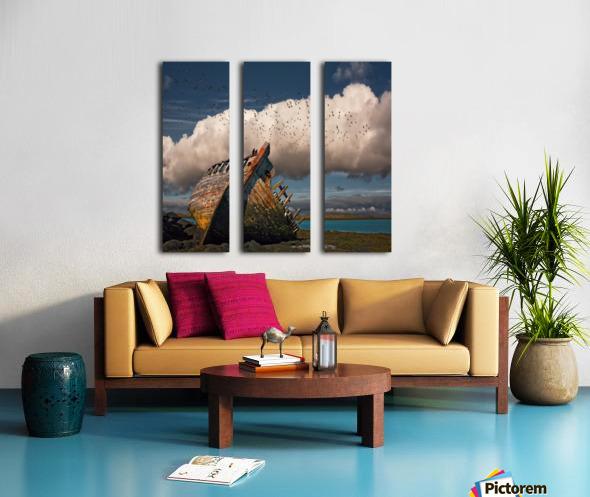Placid Split Canvas print