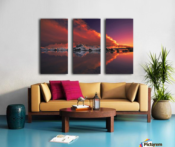 Ice & Fire Split Canvas print