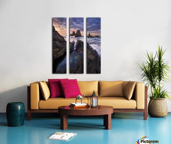 Meeting of Waters Split Canvas print