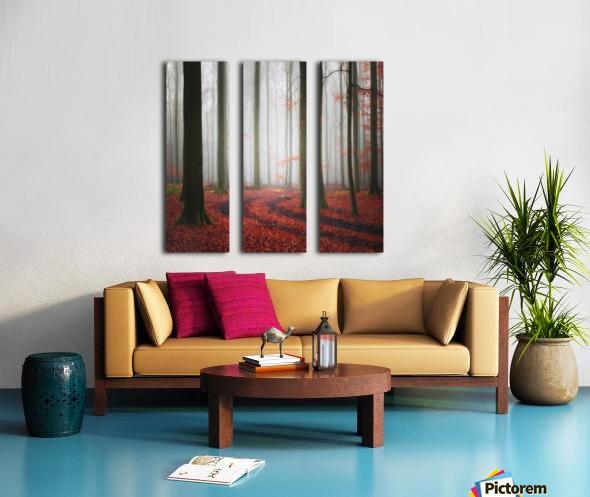 Autumnal Tracks Split Canvas print