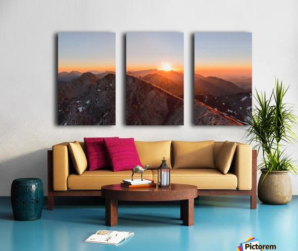 Running on the ridge Split Canvas print