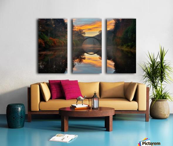 Autumn garden... Split Canvas print