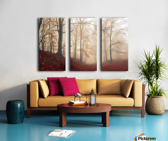 Waiting for the deer. Split Canvas print