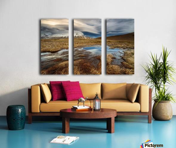 Roundness clouds Split Canvas print