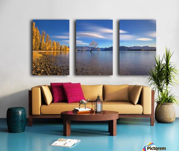 Autumn in Lake Wanaka Split Canvas print