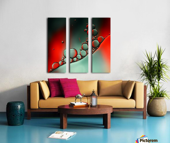 Color adaptation Split Canvas print