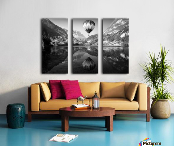 La mongolfiera Split Canvas print