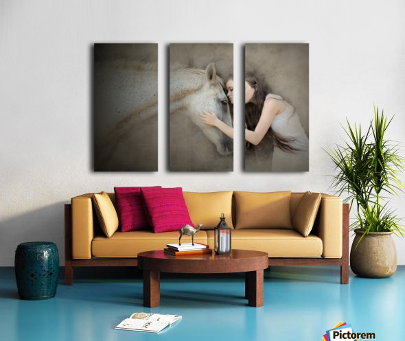a kiss Split Canvas print