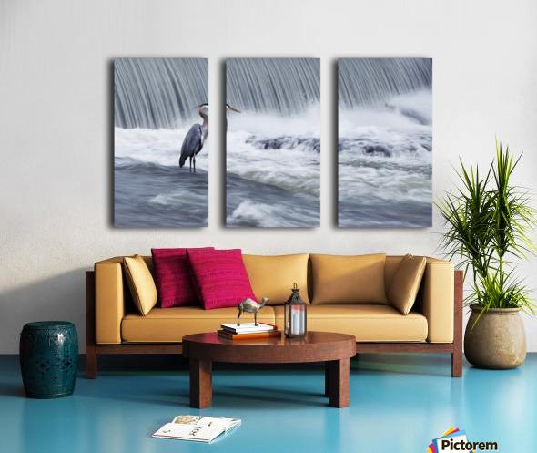 Solitude in stormy waters Split Canvas print