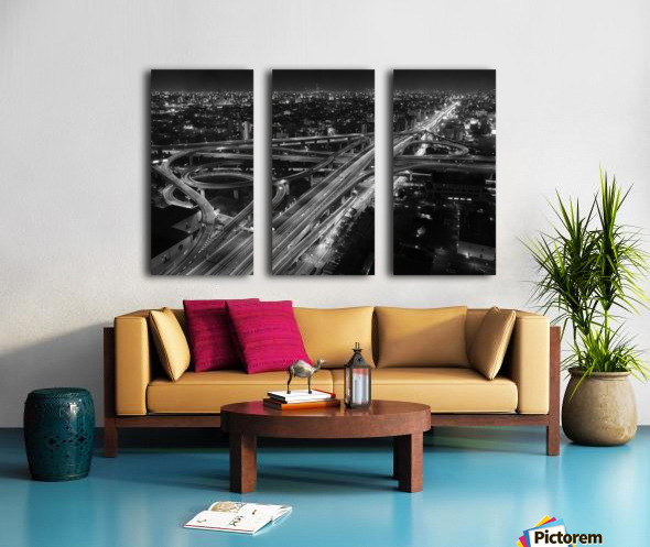 motorway Split Canvas print