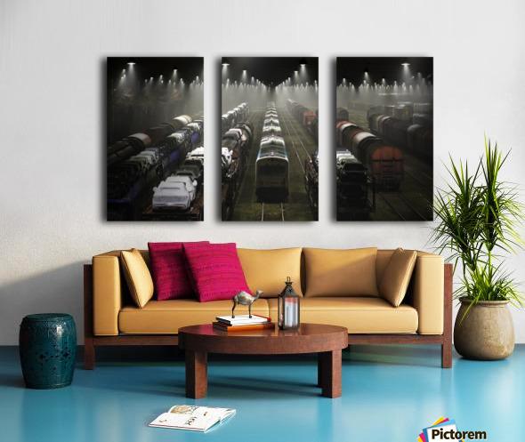 Trainsets Split Canvas print