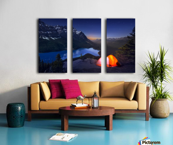 Sleeping with the stars Split Canvas print