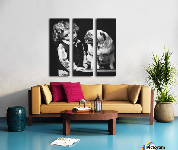 If you love me you can talk to me... Split Canvas print