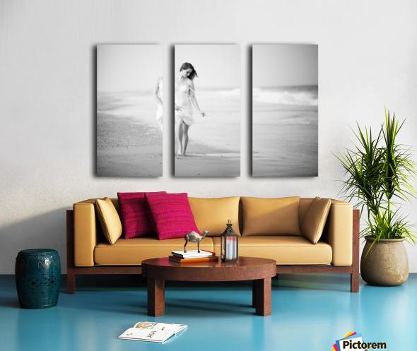 A Walk on the Beach Split Canvas print