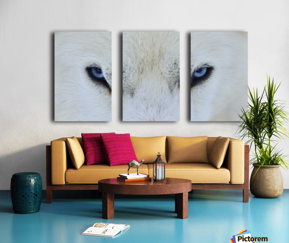 Mirada azul Split Canvas print