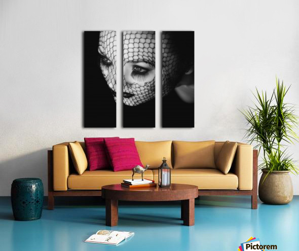 Black Split Canvas print