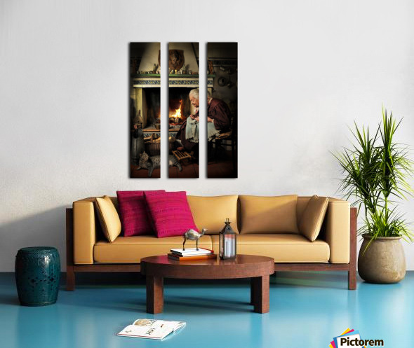 Dear Cat.... Once upon a time... Split Canvas print