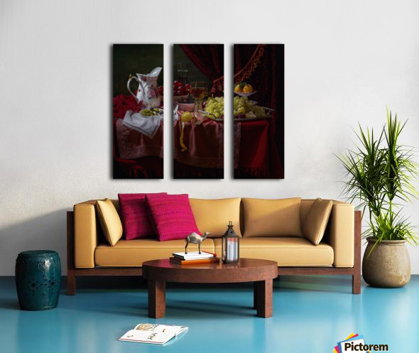 Still life in the Dutch style with a jug Split Canvas print