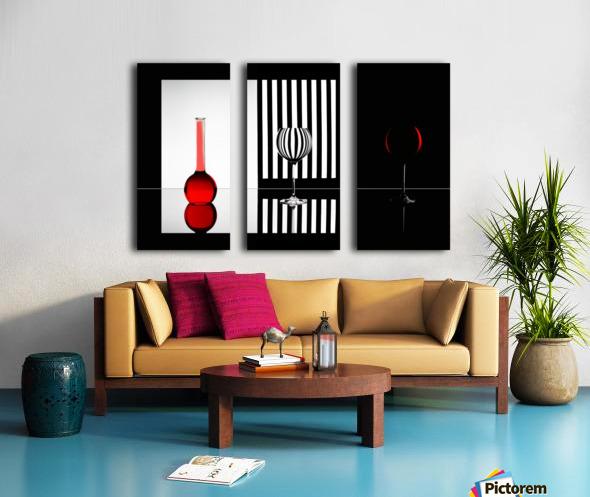 Just RED Split Canvas print