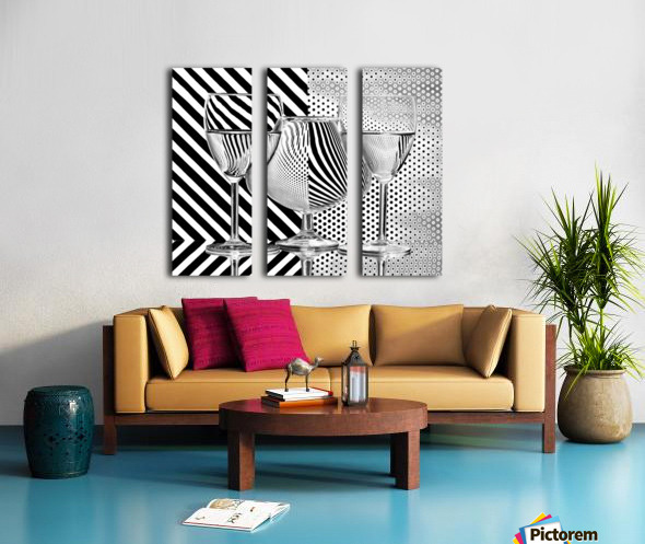 Dots and stripes Split Canvas print