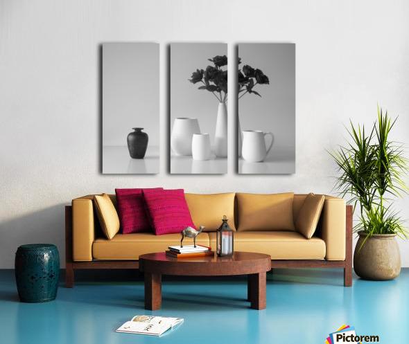 Still Life in Black and White Split Canvas print