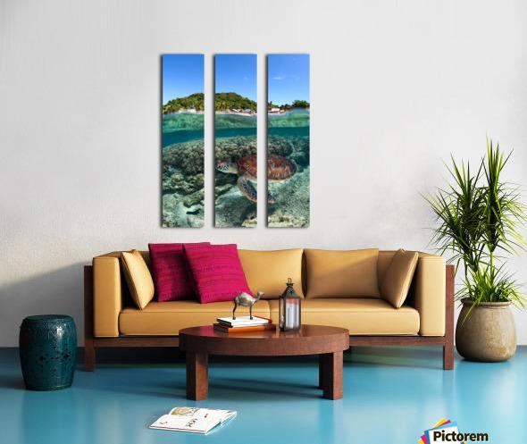 Along shore Split Canvas print