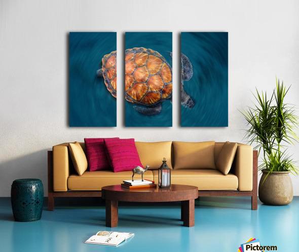 spin turtle Split Canvas print