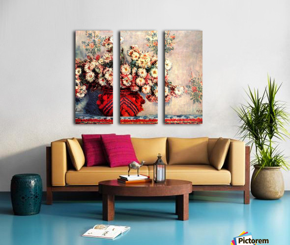 still life chrysanthemums Split Canvas print
