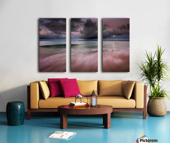Carbis Bay moonlight Split Canvas print
