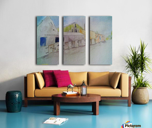 Abandoned Pig Farm Split Canvas print