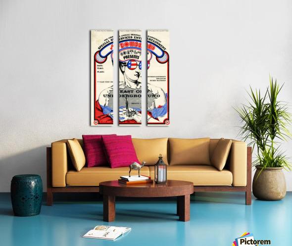 East of Underground Poster WEB USE Split Canvas print