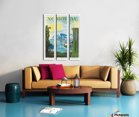 Norway Split Canvas print
