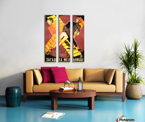The Mystery of the Windmill 1928 movie poster Split Canvas print