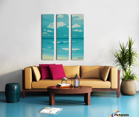 Gone to the beach. Split Canvas print