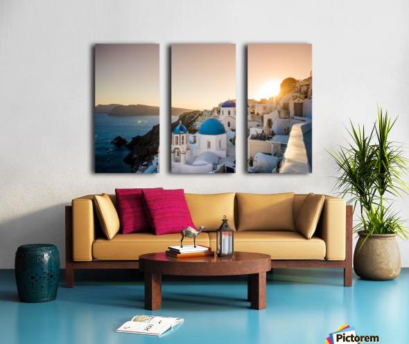 Coastal Oia Split Canvas print
