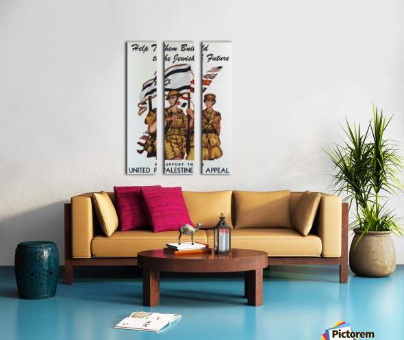 1942 United Israel appeal poster Split Canvas print