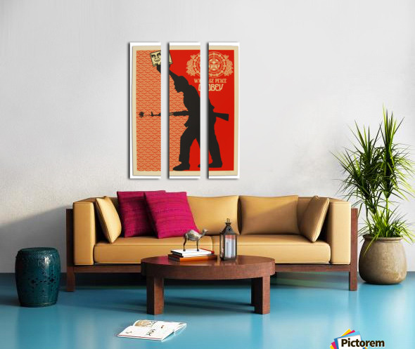 Wage Peace Obey poster Split Canvas print