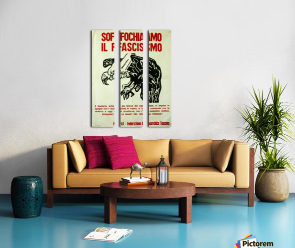 Suffocate fascism Split Canvas print