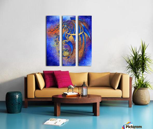 Dragissous V1 - blue dragon Split Canvas print