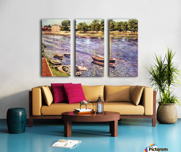 The Marne by Caillebotte Split Canvas print