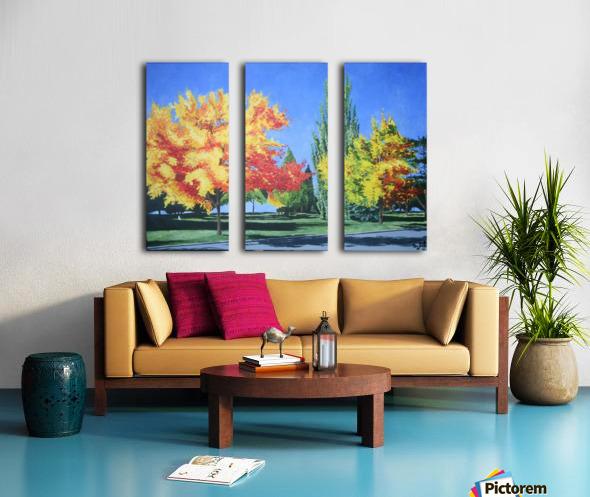 College Trees Split Canvas print