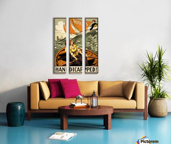 Handicapped Split Canvas print