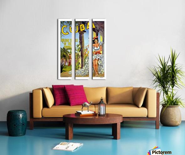 Cuba Holiday Isle of the Tropics poster Split Canvas print