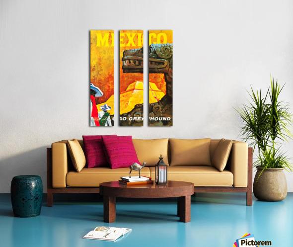 Mexico Go Greyhound Travel Poster Split Canvas print
