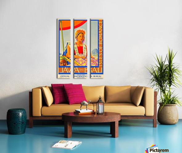 Java and Bali travel poster Split Canvas print